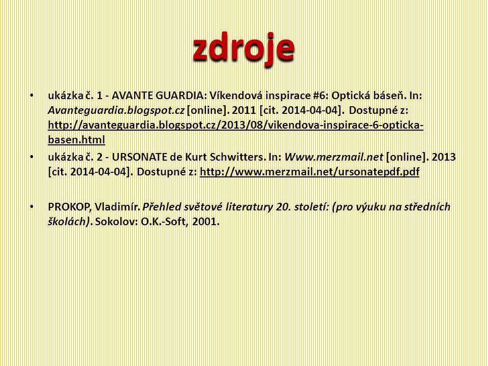 zdroje ukázka č.1 - AVANTE GUARDIA: Víkendová inspirace #6: Optická báseň.