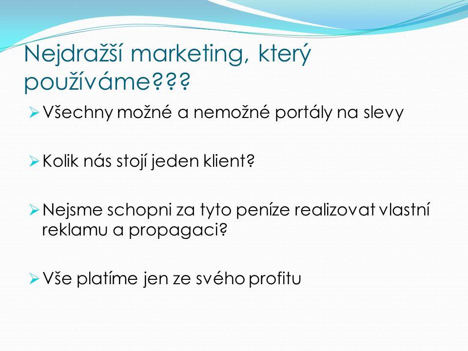 Nejdražší marketing, který používáme??.