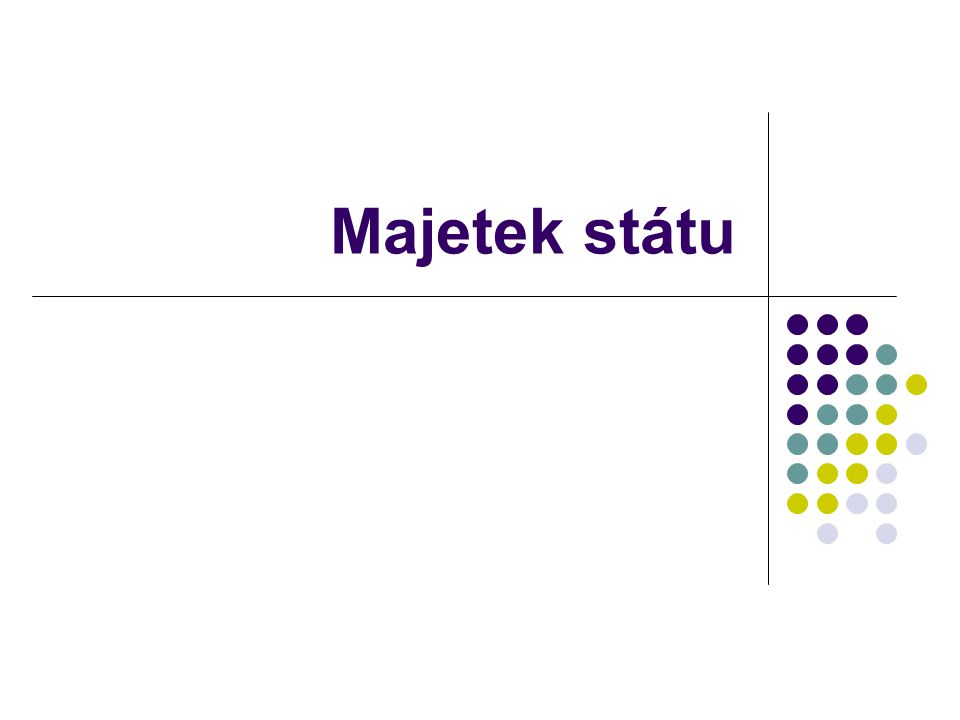 Úvodem při výkonu majetkových práv stát vstupuje do občanskoprávních vztahů podpůrně se uplatňuje občanský zákoník veřejnoprávní specifika – právní řád je přísnější na stát než na běžné vlastníky
