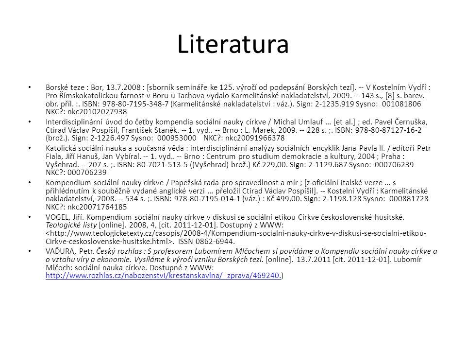 Literatura Borské teze : Bor, 13.7.2008 : [sborník semináře ke 125.