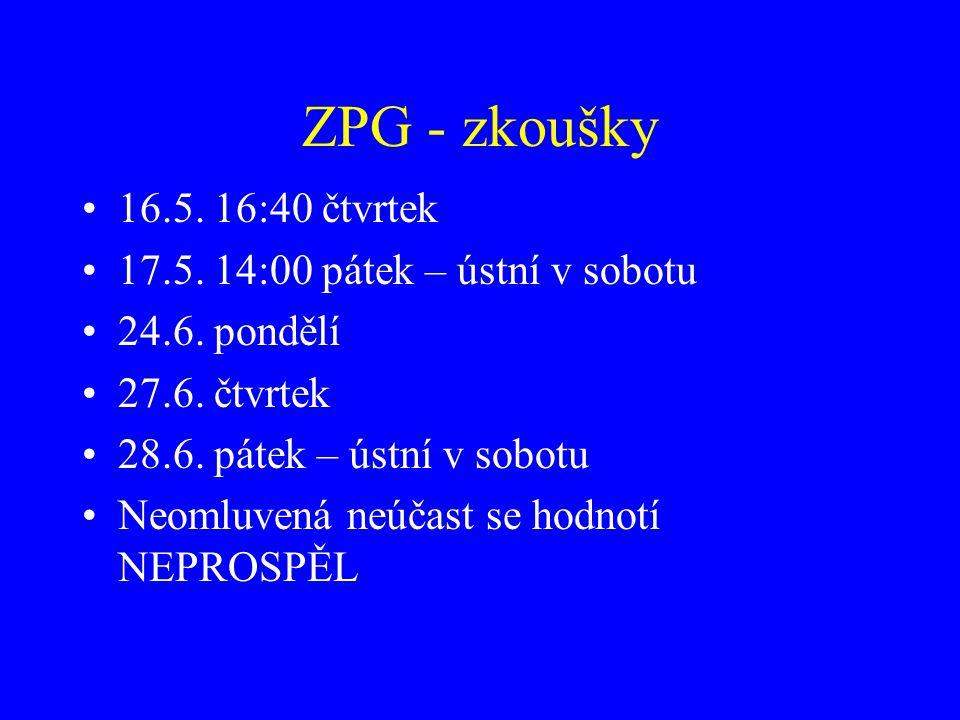 ZPG - přednášky I 1.