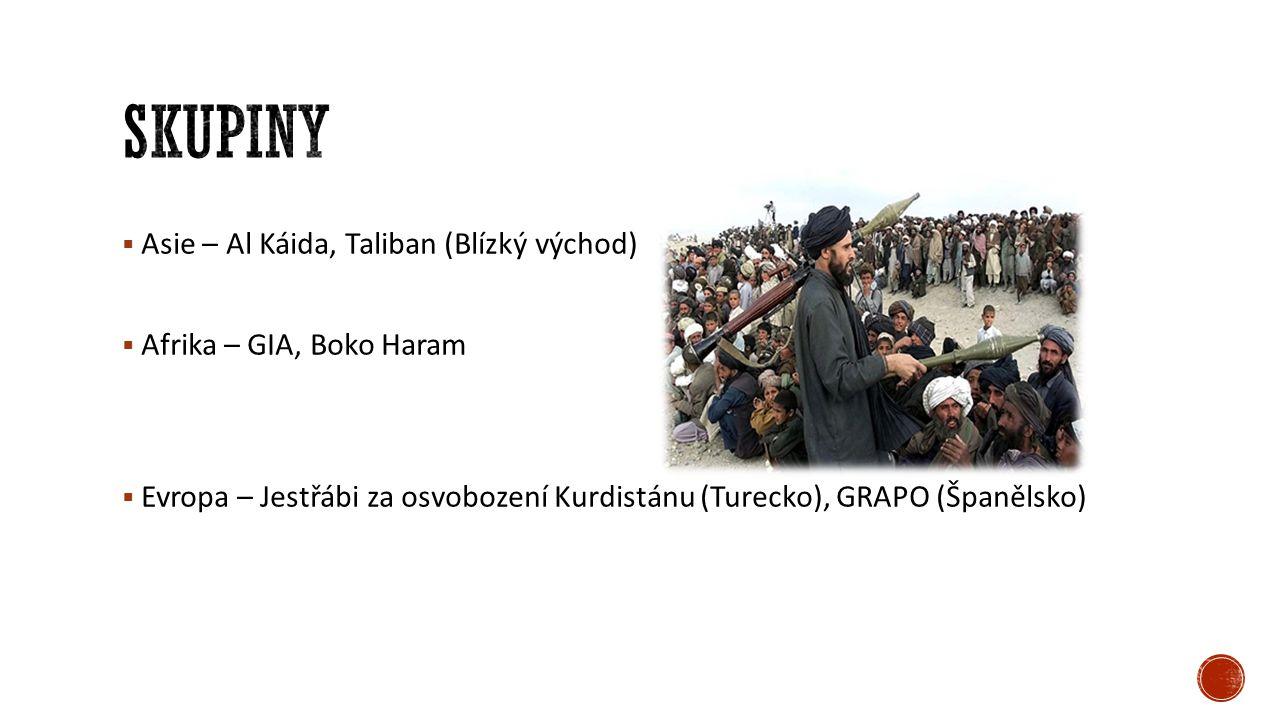  Islámská teroristická organizace  zalo ž ena na konci 80.