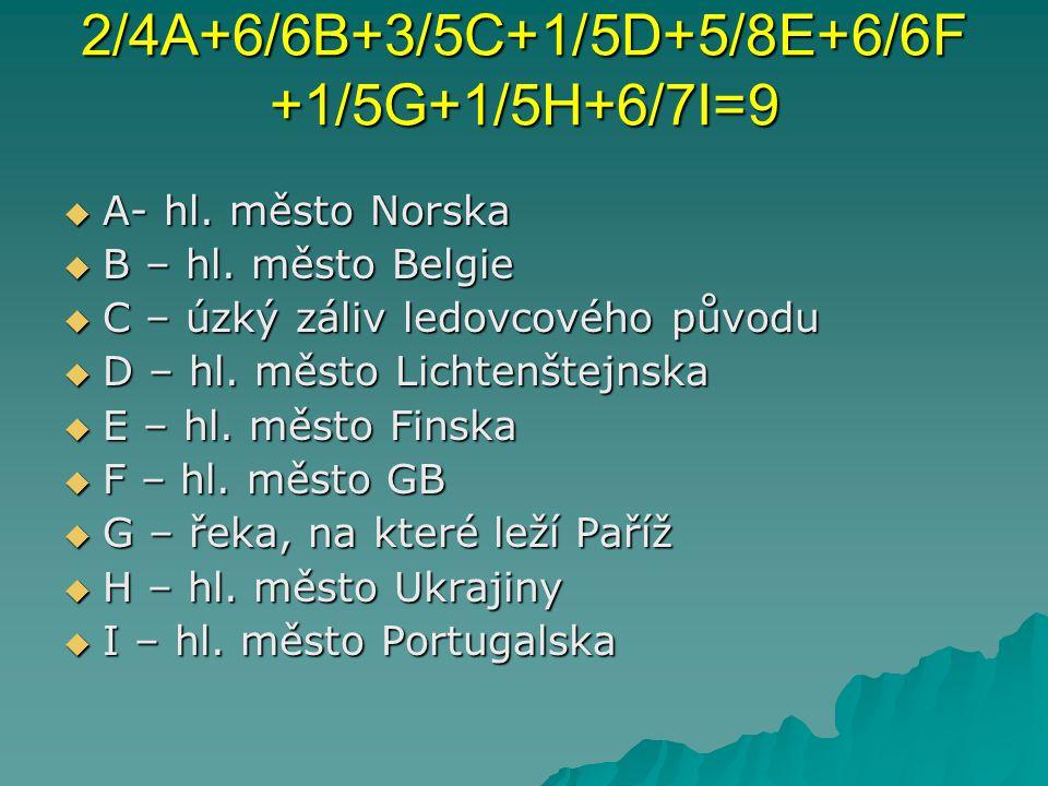 2/4A+6/6B+3/5C+1/5D+5/8E+6/6F +1/5G+1/5H+6/7I=9  A- hl.