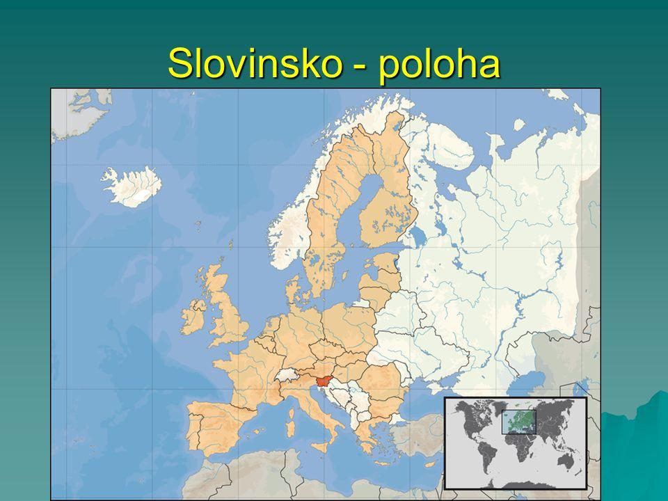 Slovinsko - poloha