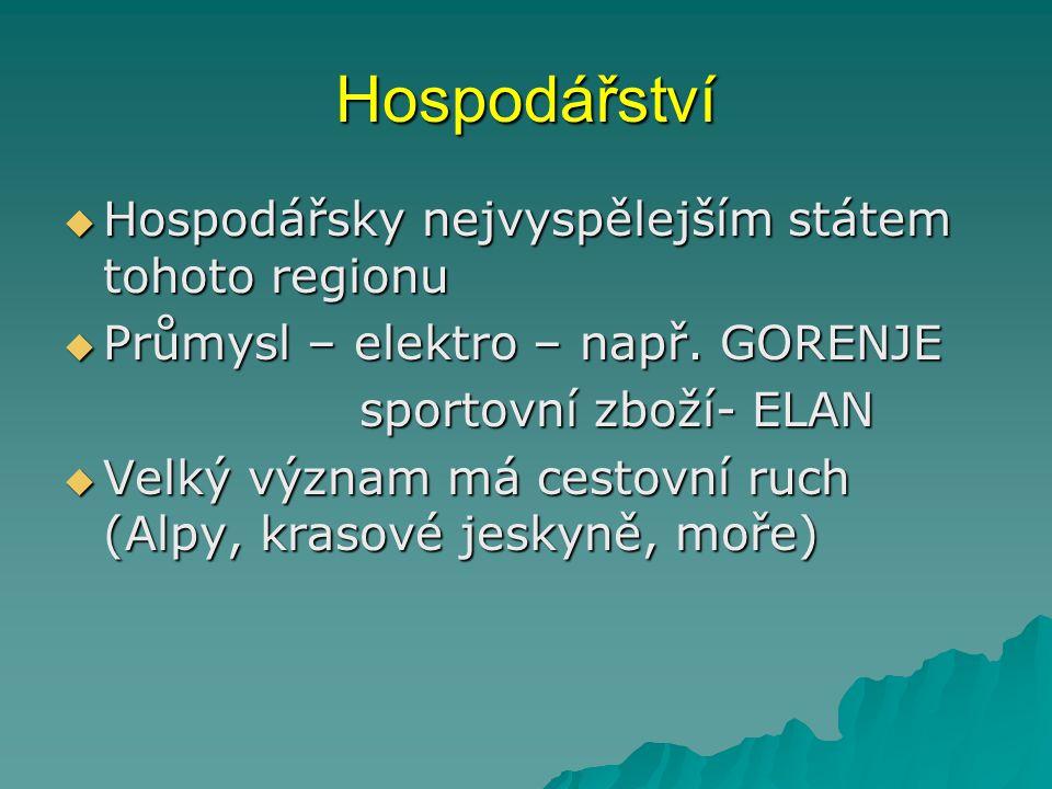 Hospodářství  Hospodářsky nejvyspělejším státem tohoto regionu  Průmysl – elektro – např.