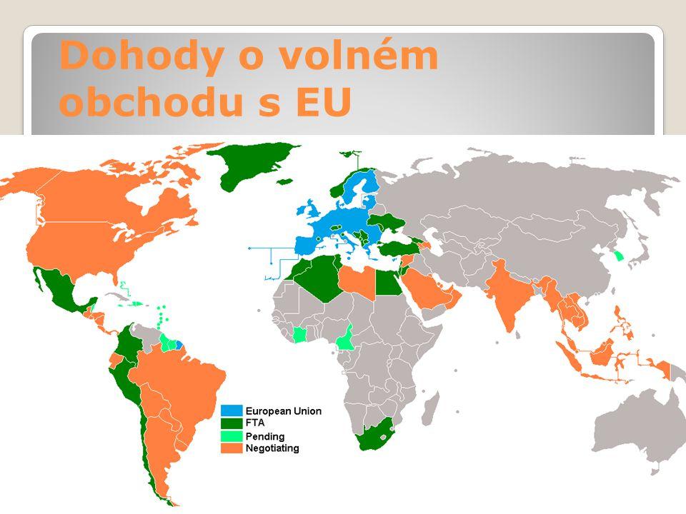 Dohody o volném obchodu s EU