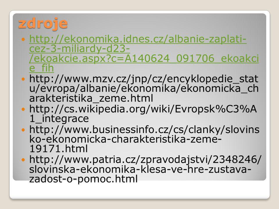 zdroje http://ekonomika.idnes.cz/albanie-zaplati- cez-3-miliardy-d23- /ekoakcie.aspx?c=A140624_091706_ekoakci e_fih http://ekonomika.idnes.cz/albanie-