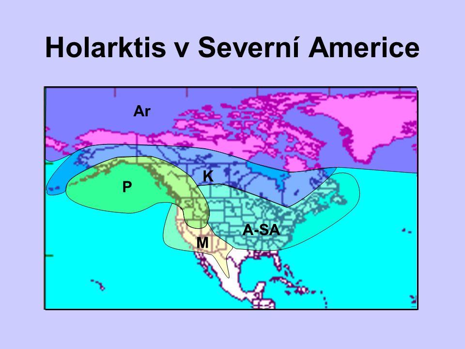 Ar Sh Ar P Holarktis v Severní Americe M A-SA K