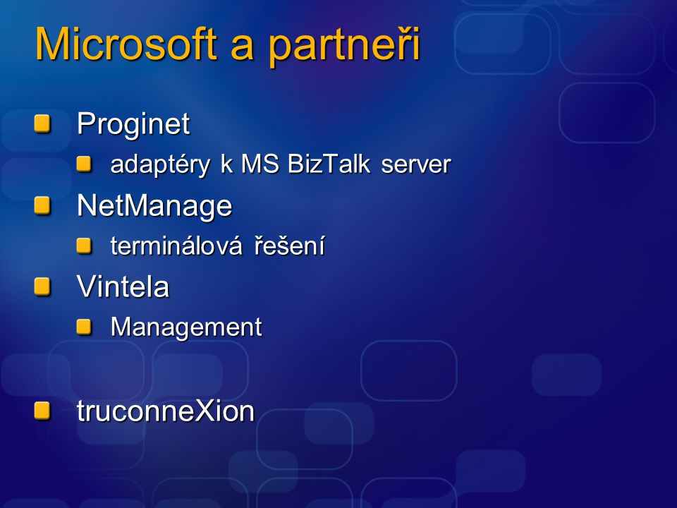 Microsoft a Vintela Steve Ballmer We are working with partners to make it possible for Microsoft customers to manage Unix, Linux, and Mac computers in conjunction with Systems Management Server 2003, and to manage hardware devices such as desktops and servers through solutions that update hardware-based software components using the same familiar interfaces that an administrator would use to update software applications.