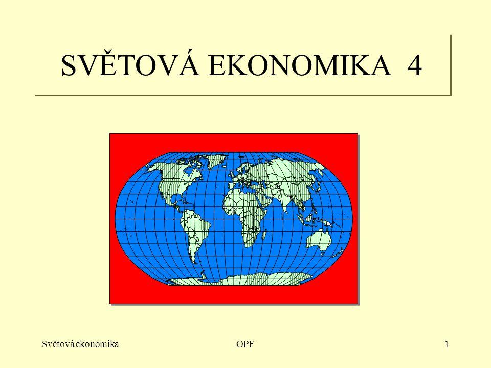 Světová ekonomikaOPF2 Transfery I, VTP Tendence: Růst nákladů na výskum Technolgická mezera Interdependence Společné programy Země I.