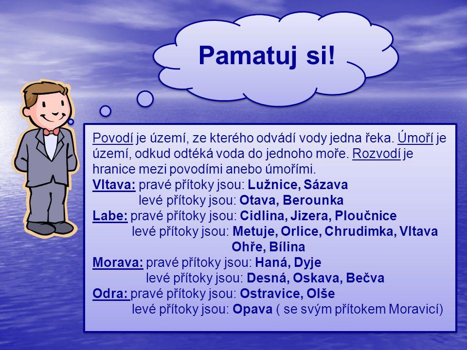 Použité zdroje: ŠTIKOVÁ, Věra a Jana TABARKOVÁ.Vlastivěda 4: Poznáváme naši vlast.