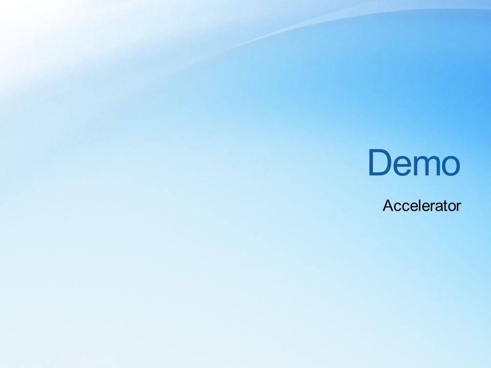 Demo Accelerator
