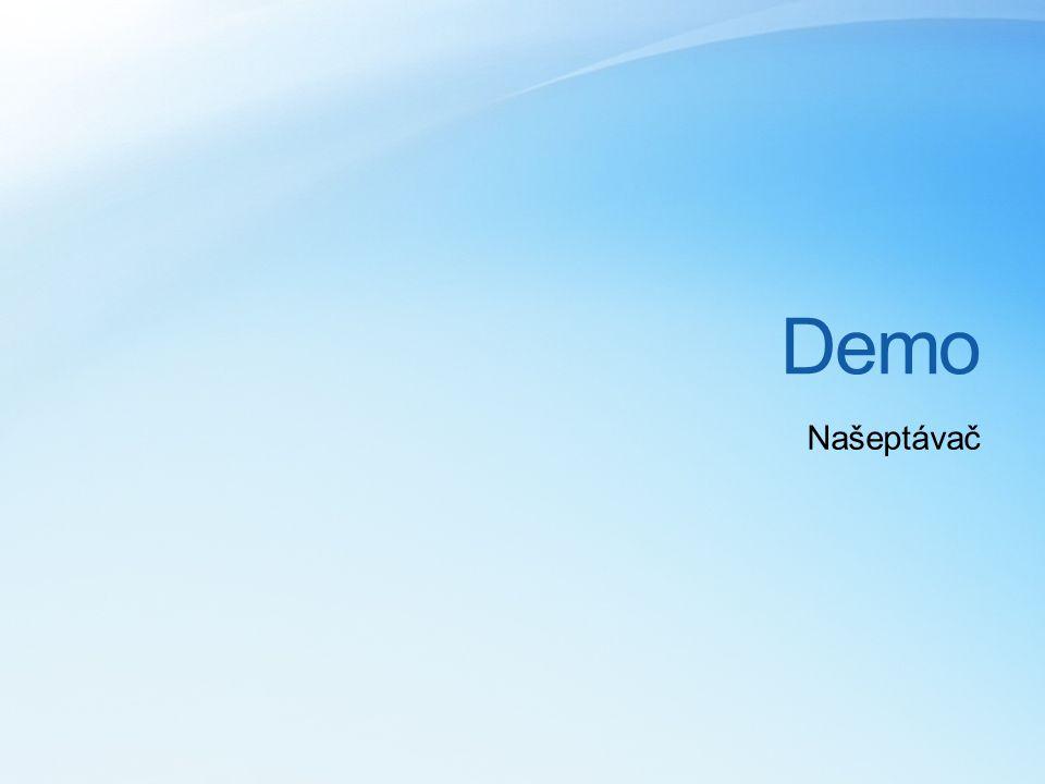 Demo Našeptávač