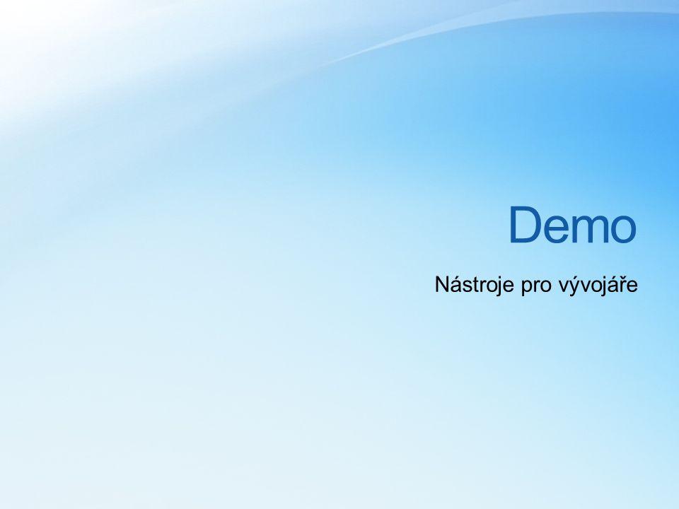 Demo Nástroje pro vývojáře