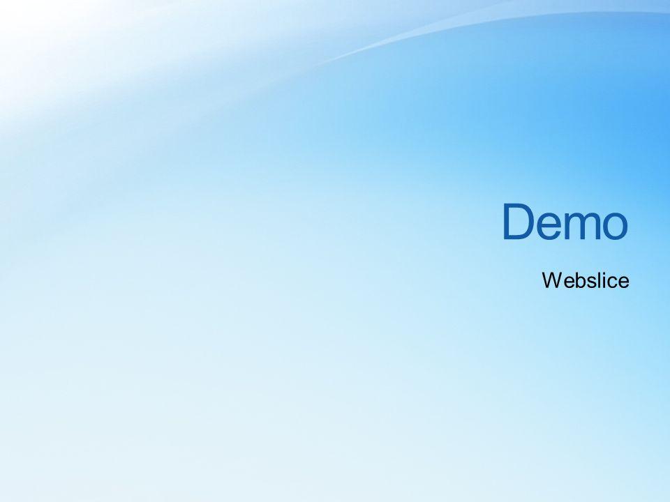 Demo Webslice
