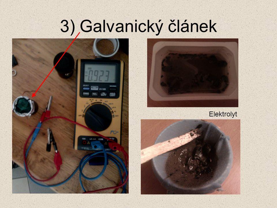 3) Galvanický článek Elektrolyt