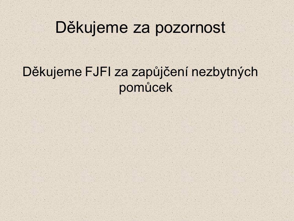 Děkujeme za pozornost Děkujeme FJFI za zapůjčení nezbytných pomůcek