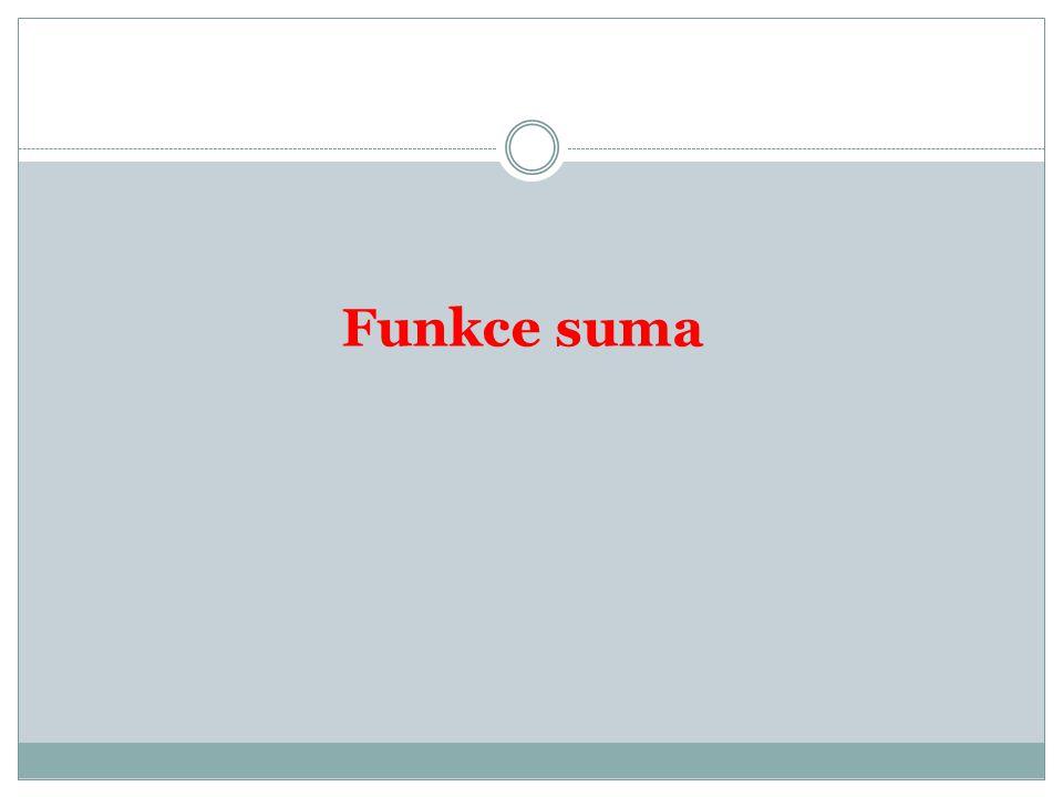Funkce suma