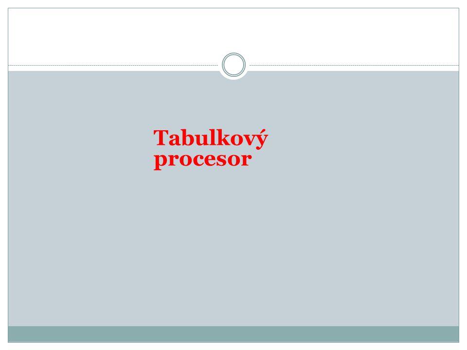 Tabulkový procesor
