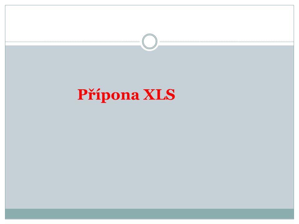 Přípona XLS