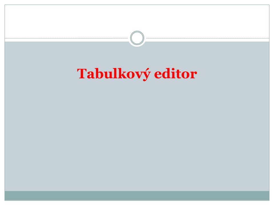 Tabulkový editor