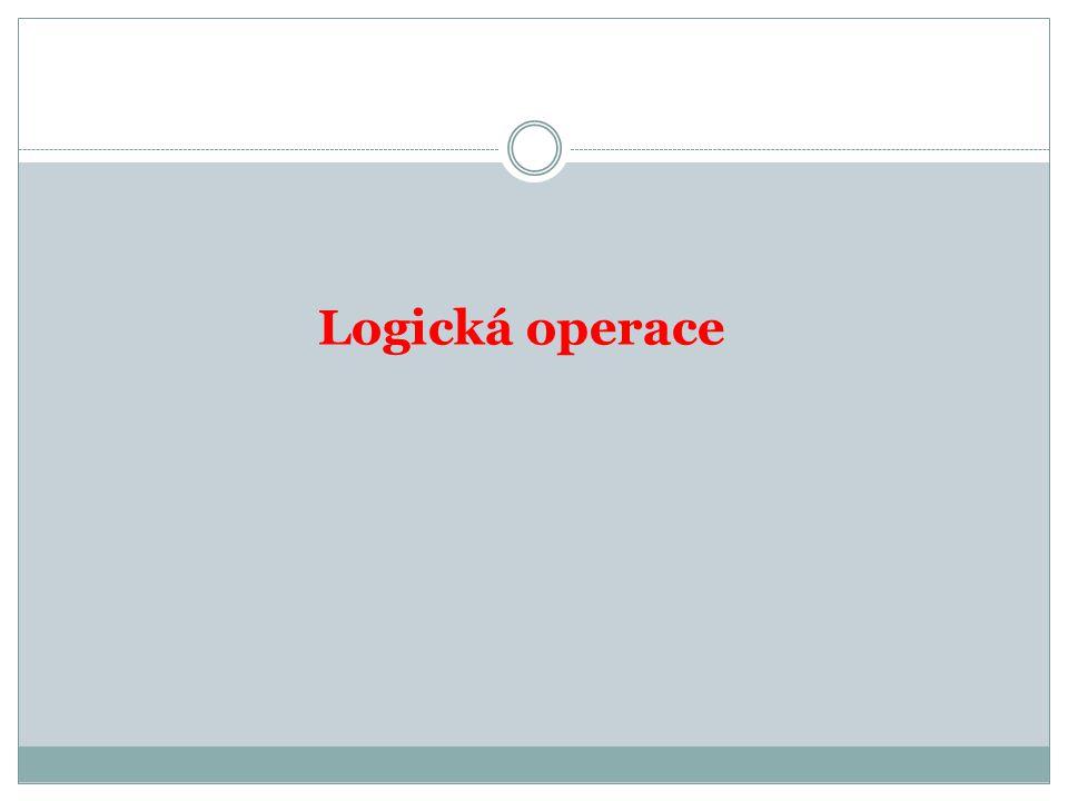 Logická operace