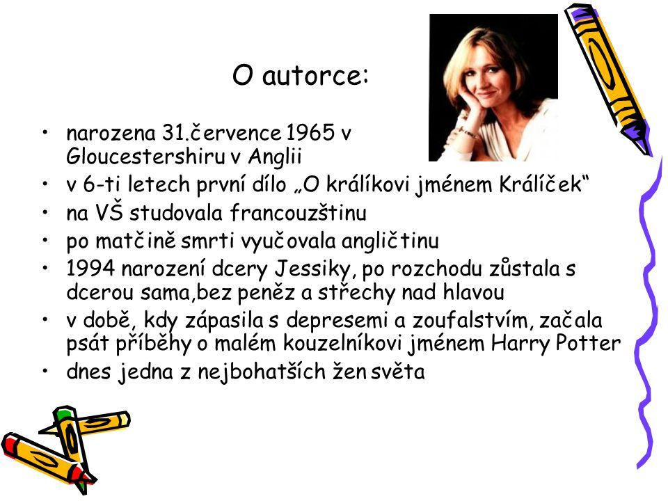 """O autorce: narozena 31.července 1965 v Gloucestershiru v Anglii v 6-ti letech první dílo """"O králíkovi jménem Králíček"""" na VŠ studovala francouzštinu p"""