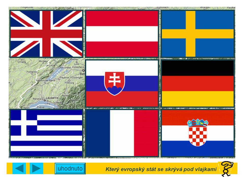 Který evropský stát se skrývá pod vlajkami uhodnuto