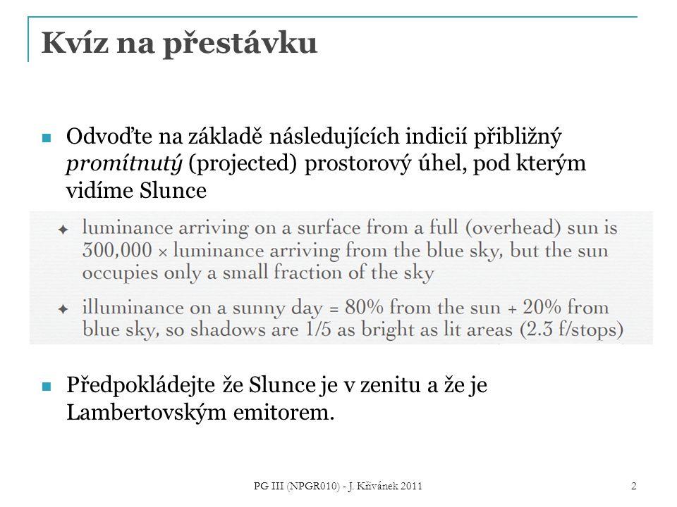 Zákon odrazu Odvoďte směr odraženého paprsku PG III (NPGR010) - J. Křivánek 2011 3