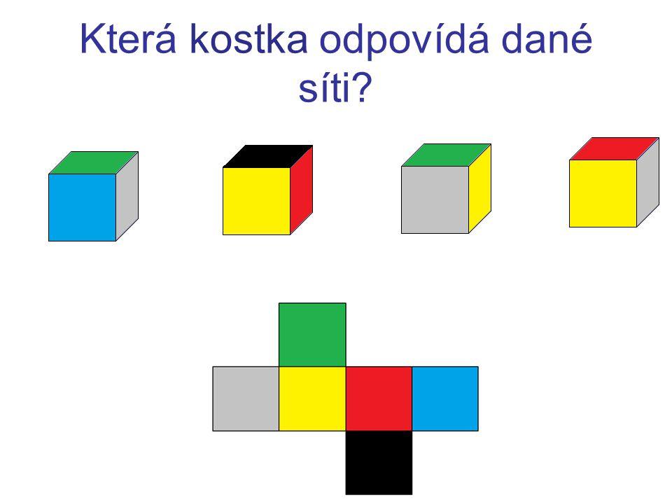 Určete povrch a objem kvádru, jehož síť je zobrazena ve čtvercové síti.