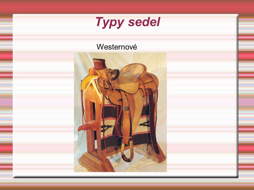 Typy sedel Westernové