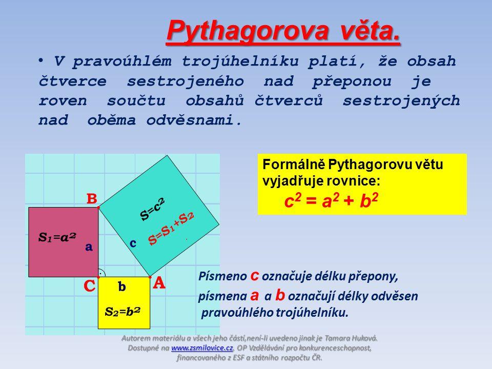 Pythagorova věta.