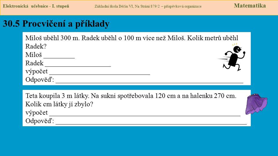 30.5 Procvičení a příklady Elektronická učebnice - I.