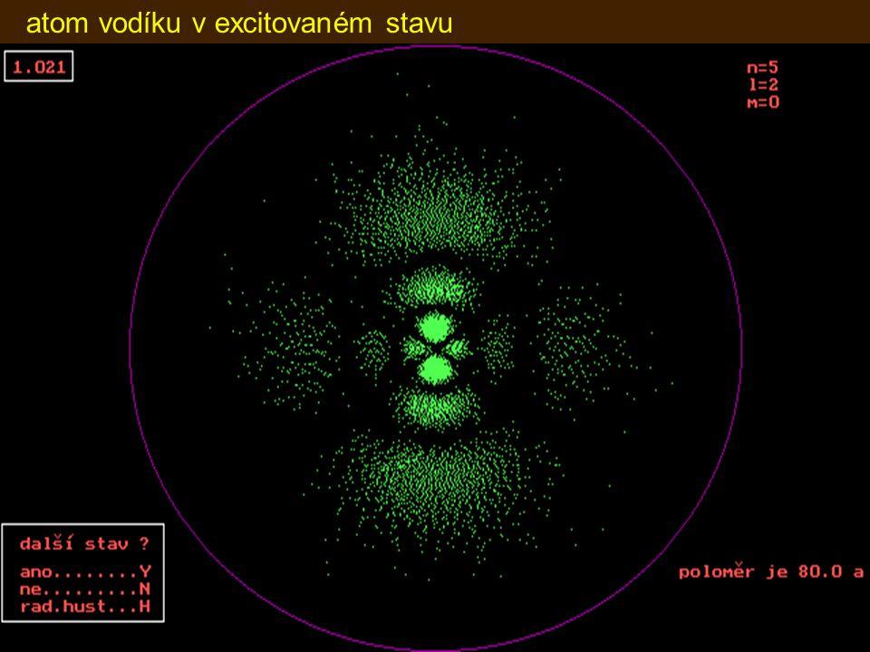 atom vodíku v excitovaném stavu