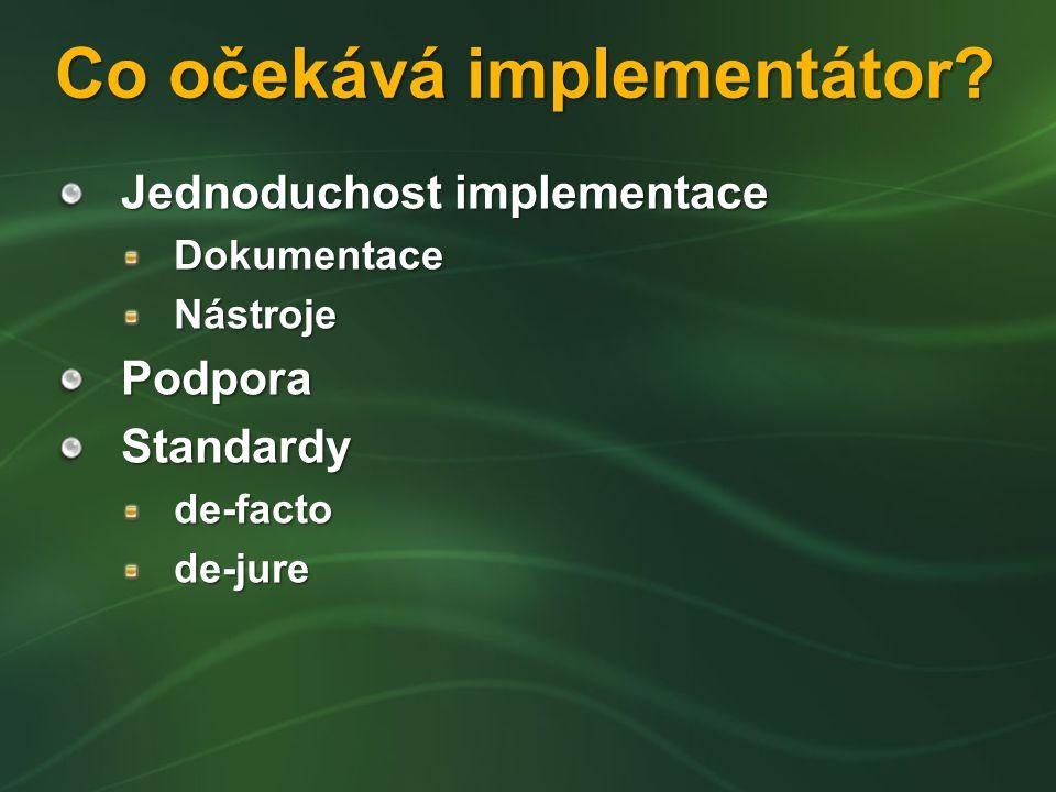 Co očekává implementátor.