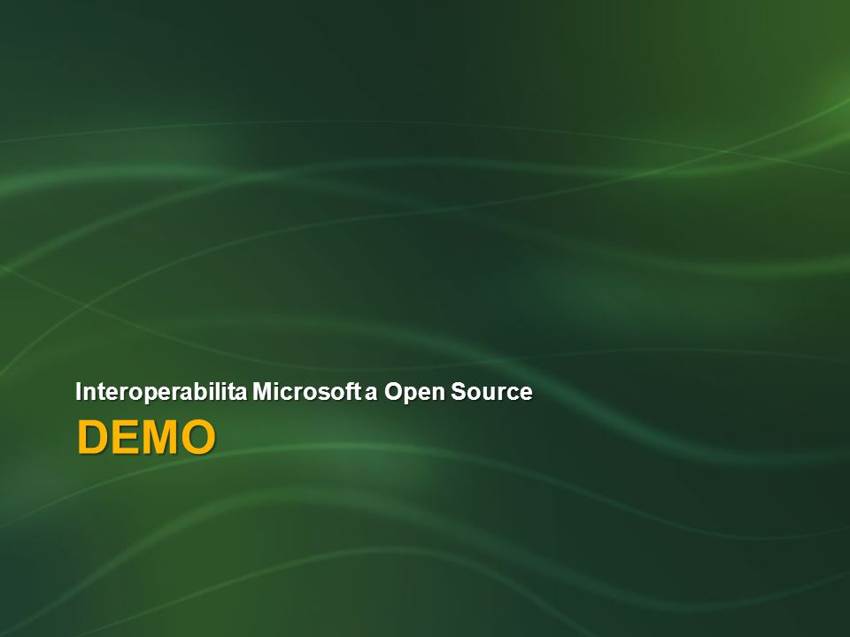 DEMO Interoperabilita Microsoft a Open Source