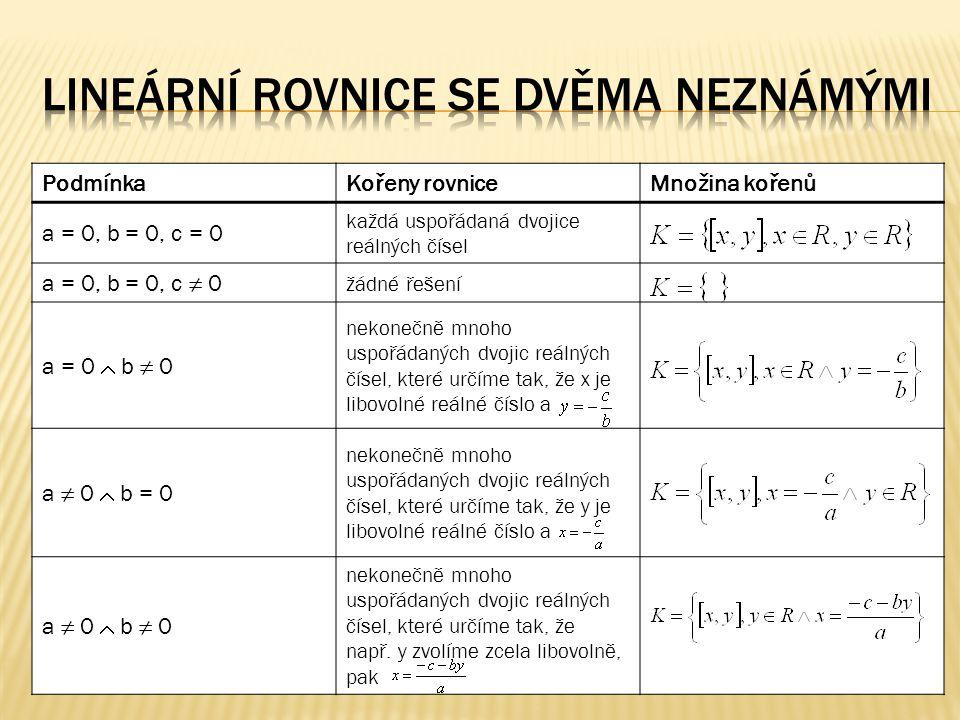  Řešte v R x R rovnici Řešení