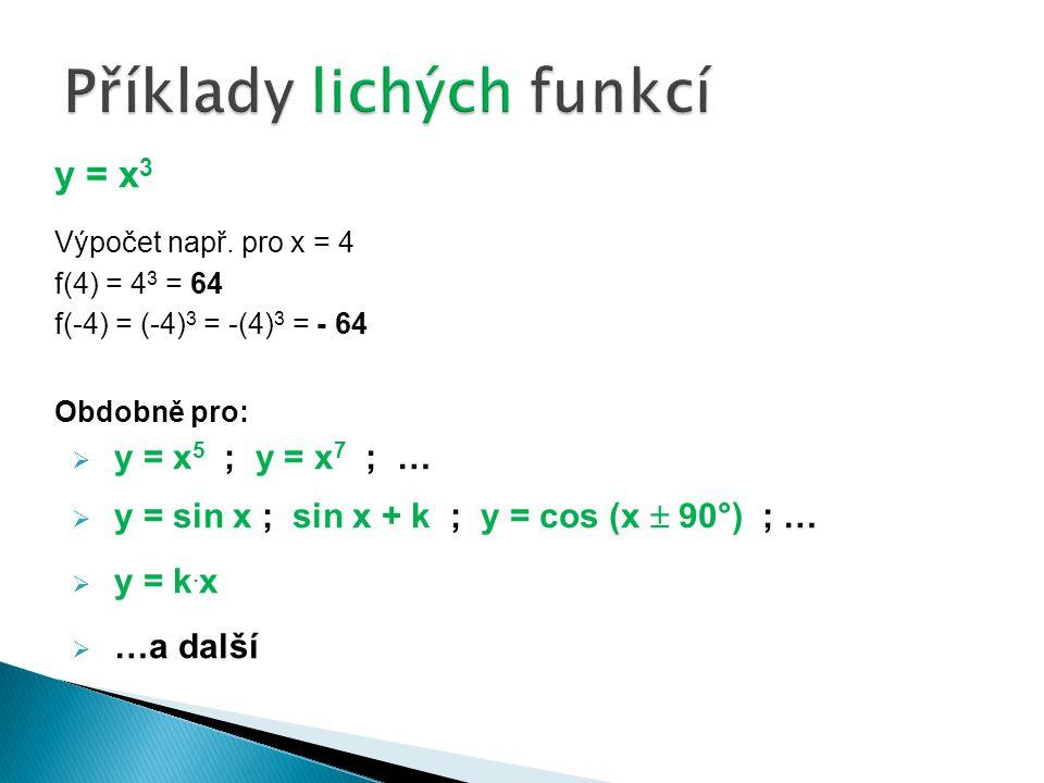 y = x 3 Výpočet např.