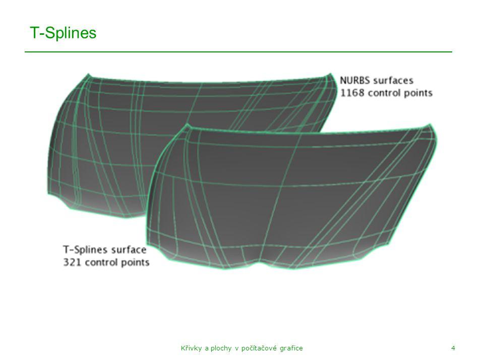 Křivky a plochy v počítačové grafice4 T-Splines