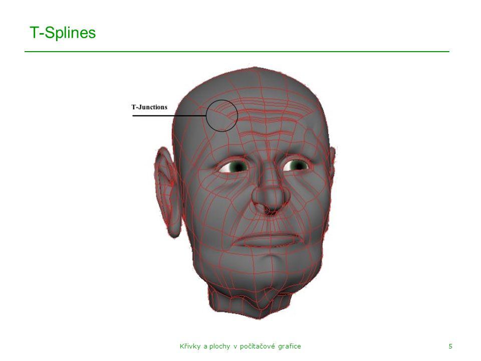 Křivky a plochy v počítačové grafice5 T-Splines