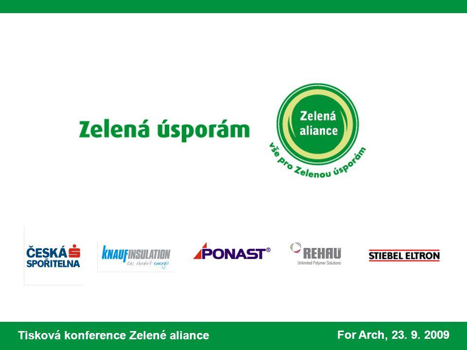 Tisková konference Zelené aliance For Arch, 23. 9. 2009