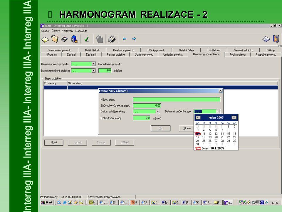  HARMONOGRAM REALIZACE - 2