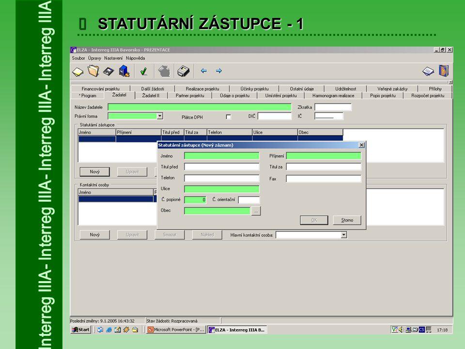  STATUTÁRNÍ ZÁSTUPCE - 2