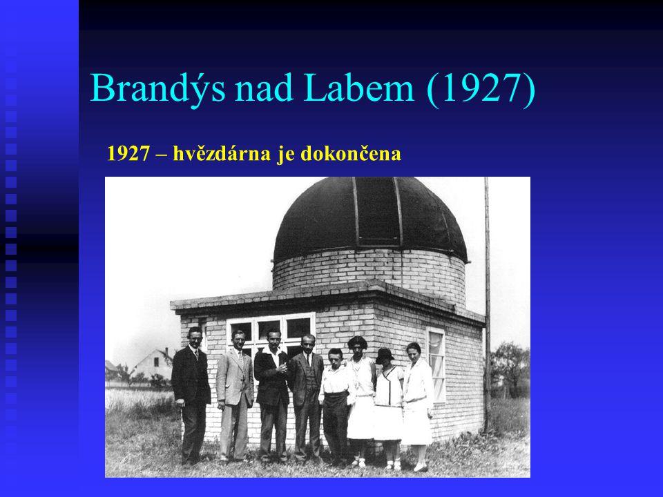 Brandýs nad Labem (1927) 1927 – hvězdárna je dokončena