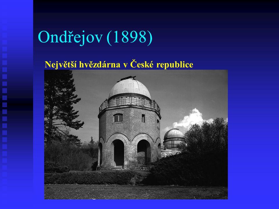 Ondřejov (1898) Největší hvězdárna v České republice