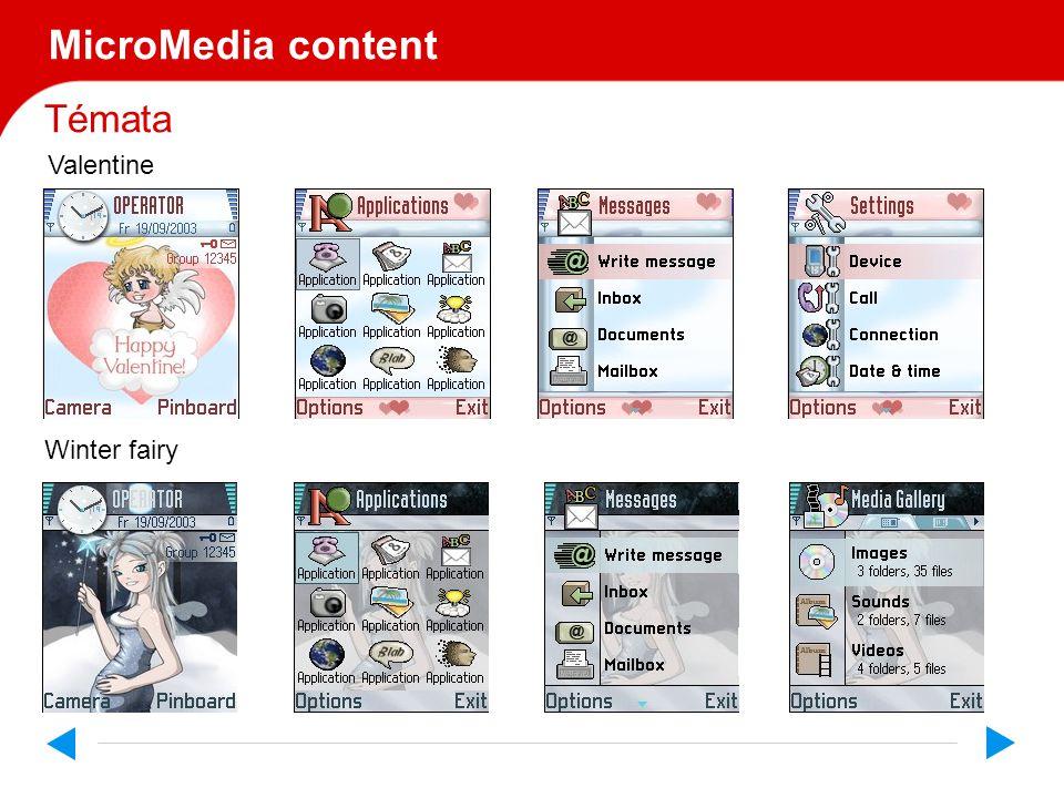 Témata MicroMedia content Valentine Winter fairy