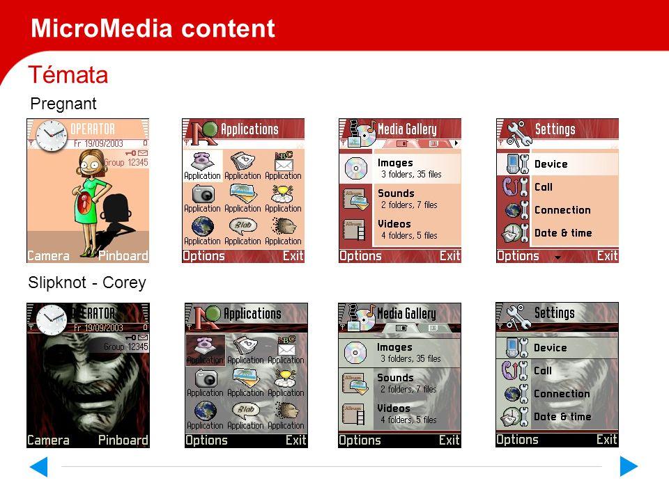 Témata MicroMedia content Pregnant Slipknot - Corey