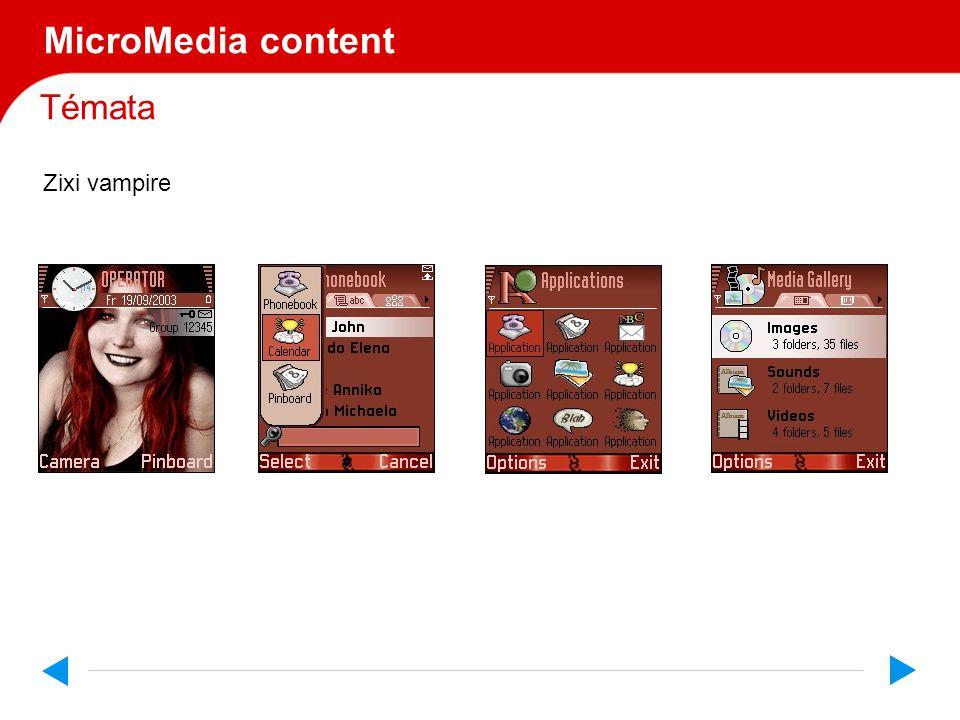 Témata MicroMedia content Zixi vampire