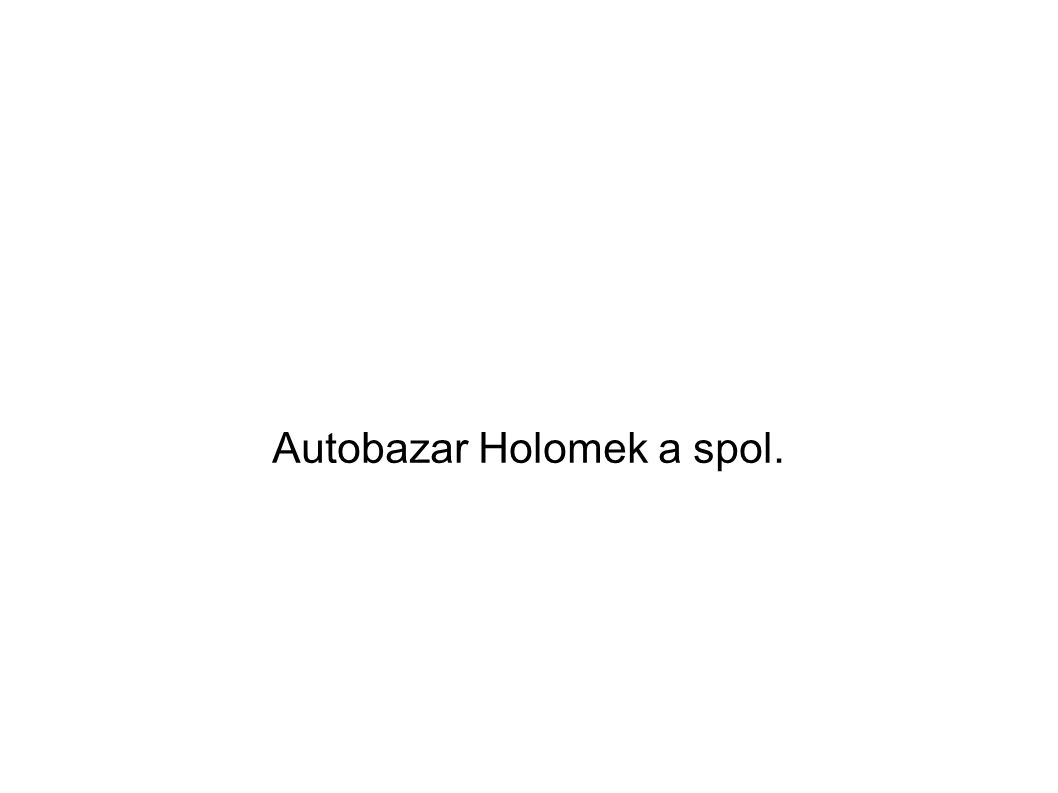 Autobazar Holomek a spol.