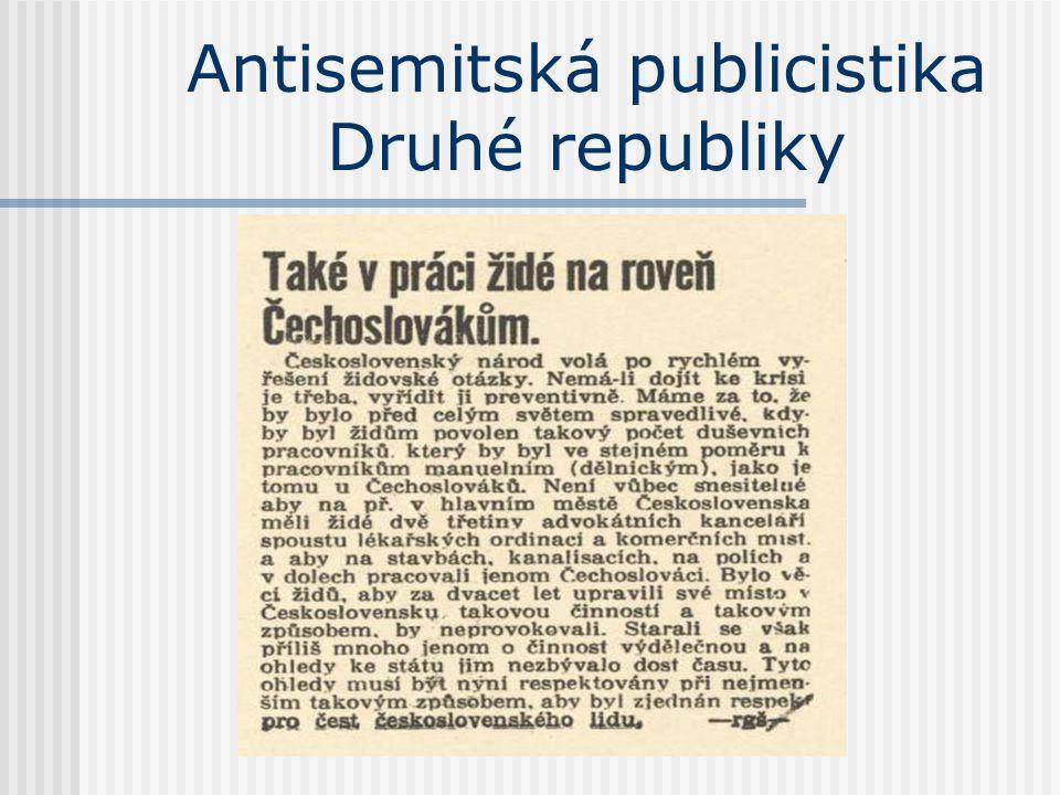 Antisemitská publicistika Druhé republiky